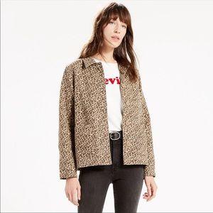 Levi Strauss Leopard Print Chore Jacket NWOT